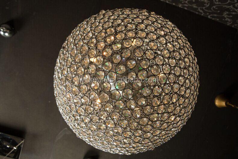 Led Kristal Top Kolye Lamba Oturma Odası Lamba Işıklar