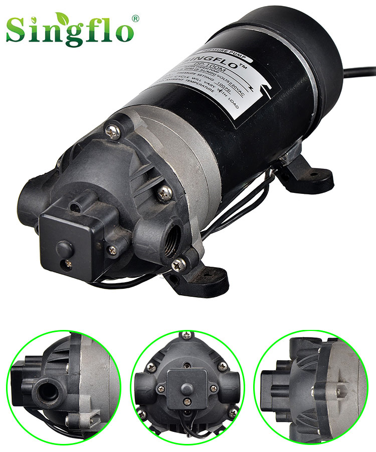 Singflo dc 12v 24v dc 100psi 5.5lpm 9A high pressure car wash water pump DP-100