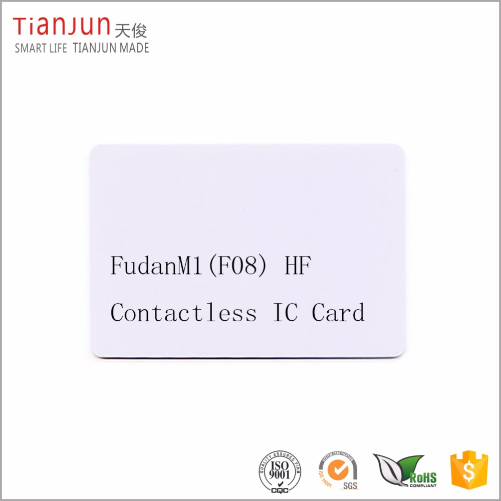 Fudan FM11RF08 13.56MHz chip rfid encryption hotel key card