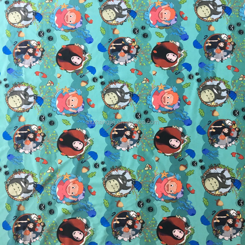 95%polyester 5%spandex china textile Digital printing brushed fabric