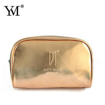 High Quality Hot Gold Pu Cosmetic Clutch Bag Pouch Whole Wallet