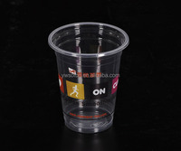 party cup customer design/Disposable drinkware, clear or printed plastic PET cup, Cups & Saucers