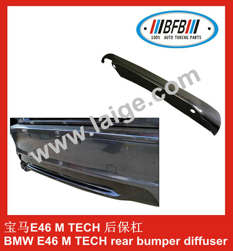 carbon fiber rear bumper diffuser bodykit for BMW E46 M TECH