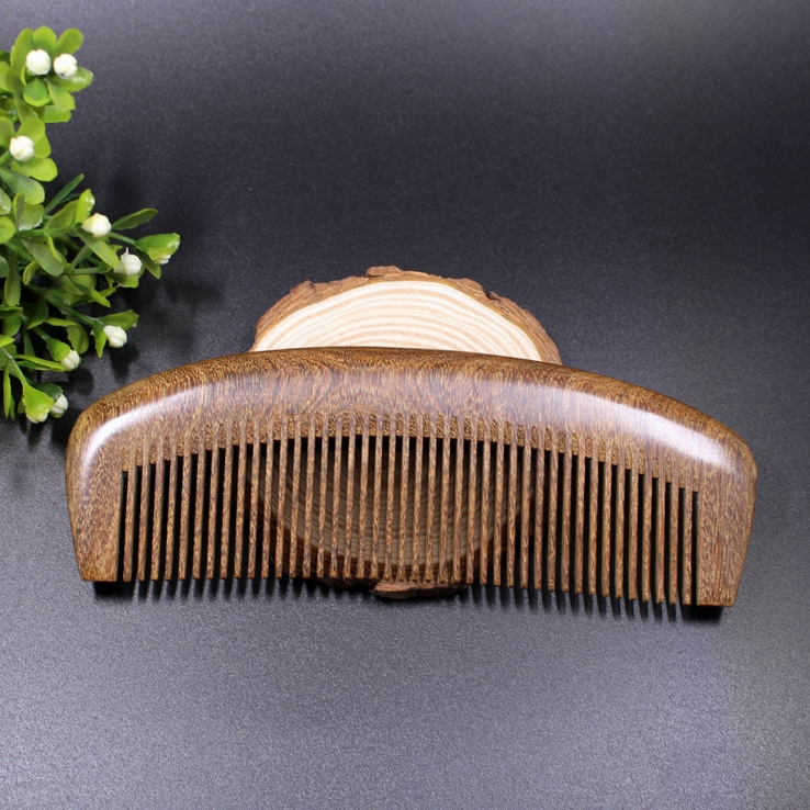 Natural No Static Green Sandalwood Fine Toothed Health Care Men Comb