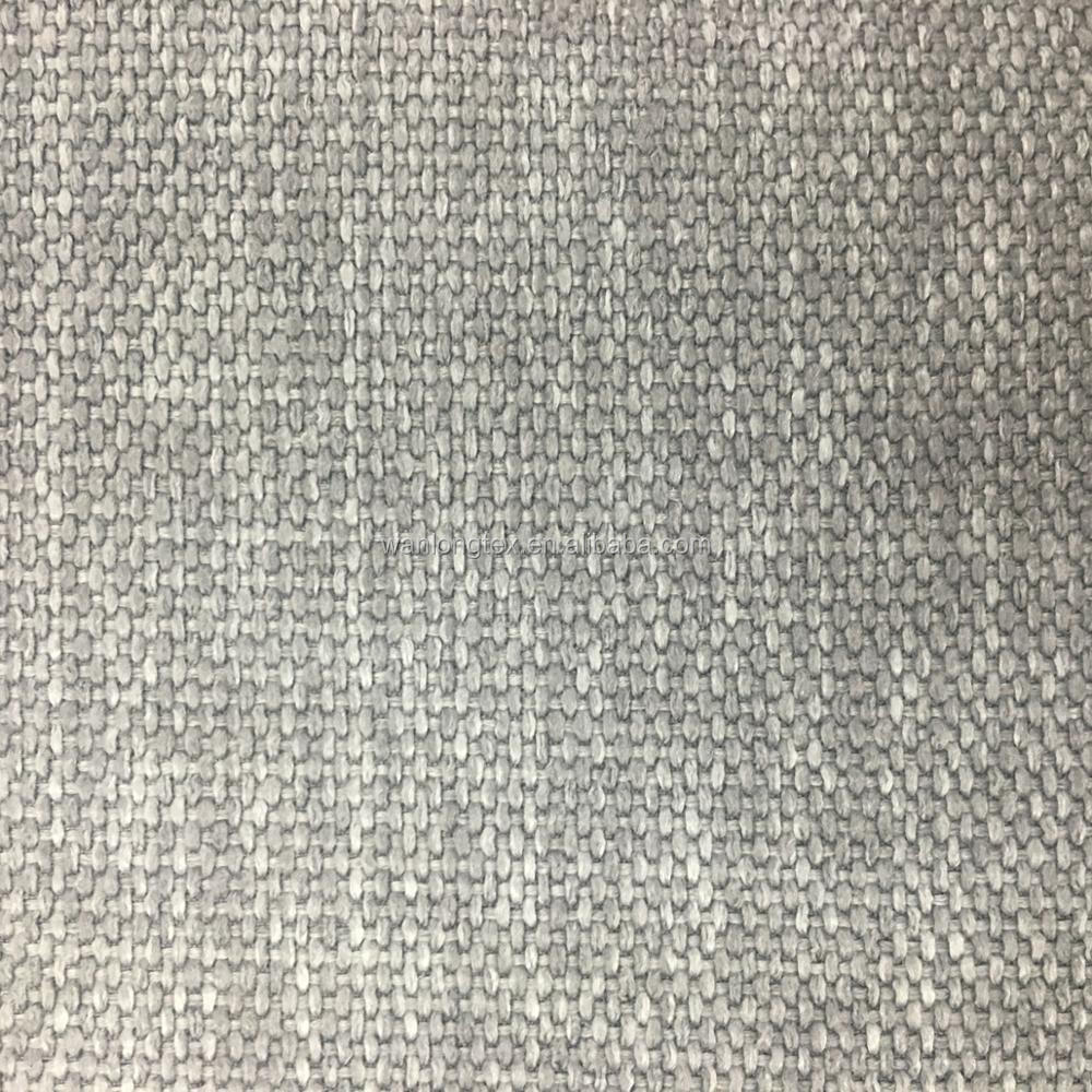 Poly Linen Fabric For Sofa Jute Style Woven Upholstery Fabric For Office  Chairs