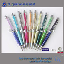 Acrylic promotional gift metal floater liquid crystal ball pen