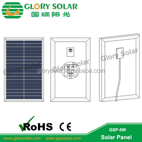 5W Polycrystalline Solar Panel For Portable Light System