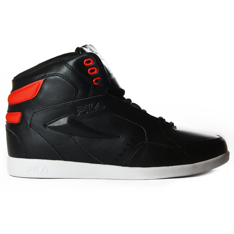 Fila Jammball V2 Basketball Shoe - Black/Pop Red/White (Mens)