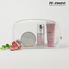 women pvc luxury travel cosmetic bag clear printed bag