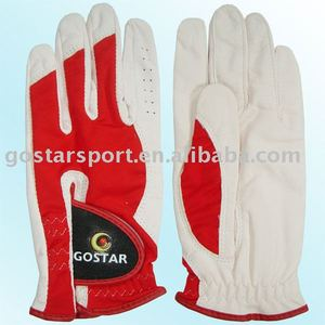 Red Lycra Cabretta Golf Glove