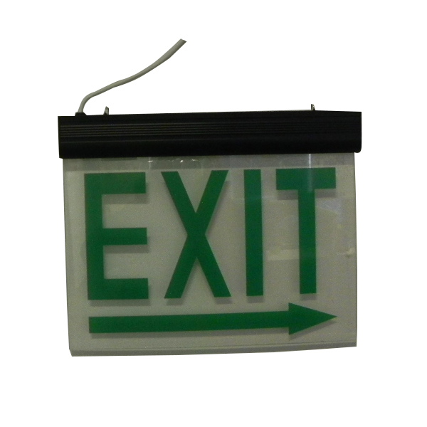 Acrylic Plate LED rechargeable exit sign font
