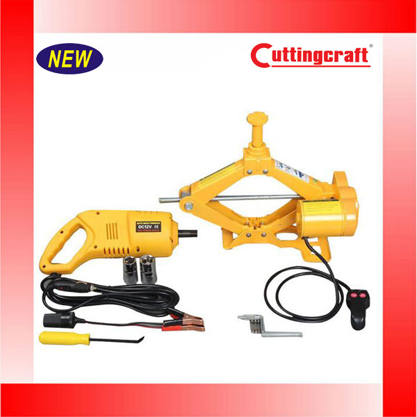 3 Tons Electric Scissor Jack With Electric Wrench