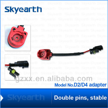 X2 D2s D2r D2c Xenon Hid Bulb/kit Socket Wire Cable Adaptor Connector D S Wire Harness on