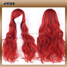 Chinese fibre colorful synthetic lace front wig