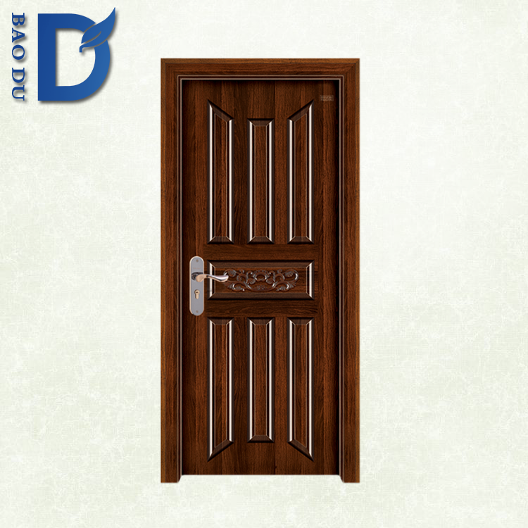 Modern Steel Wood Inner Door with Commerical Security Door Frame