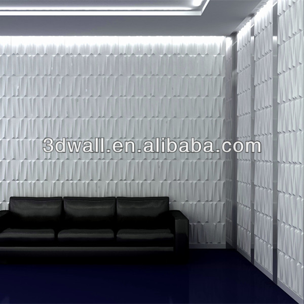 2019 new wave like brick sticker 3d wall paneling for home decoration