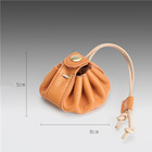 New Cowhide Leather Coin Purse Round Handy Bags Monederos Small Headphone Holder Gift Boy Girl Anime Key Coin Wallets