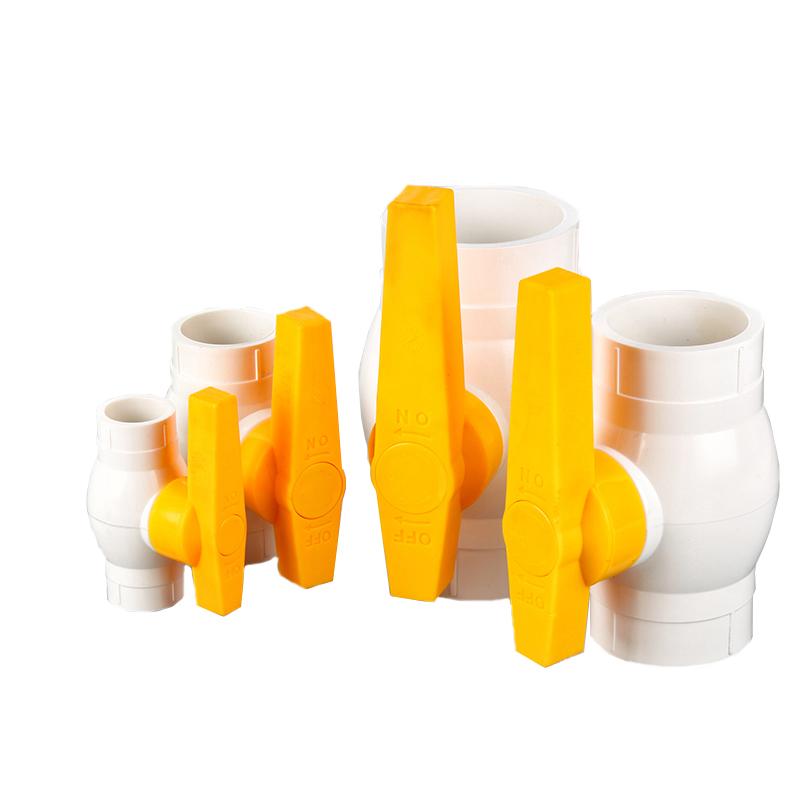 yellow handle india market upvc ball valve  pvc compact ball valve with abs handle