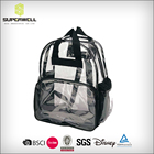 School Day Design Backpack Fashionable 10L Transparent Waterproof PVC Leisure School Travel Day Backpack Bag