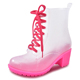 Spring Jelly Rain Boots Women Waterproof Shoes Sexy Fashion Boots Short Galoshes Rubber Boots B-827
