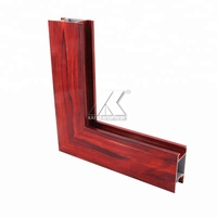 Professional extrusion company offers aluminium windows profiles with wooden grain
