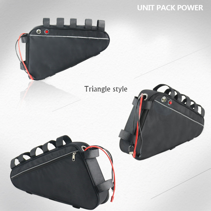 Triangle bag 48V 17Ah lithium ion ebike battery pack for 750W BBS02 Bafang mid drive conversion motor kits