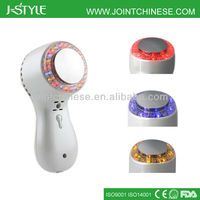 Top quality multifunctional stainless steel head led light photon ultrasonic ultra infrared massagers