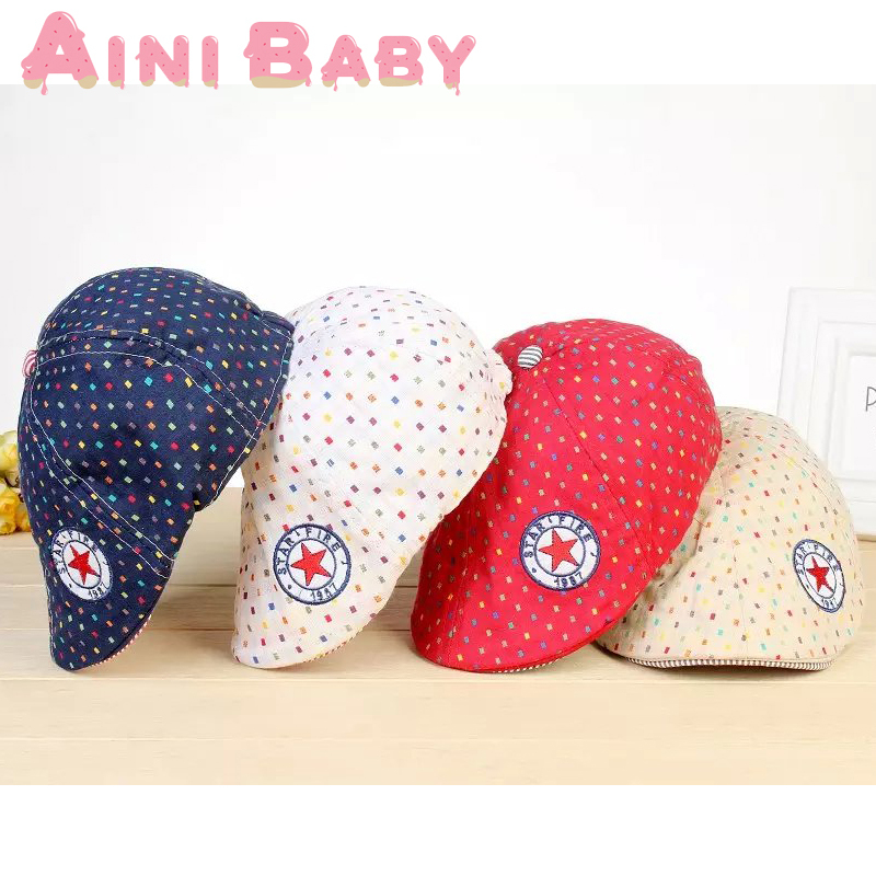 Five Star Spot Design England Style Baby Hat Baby Cap Kid Beret Hat bae20114a67