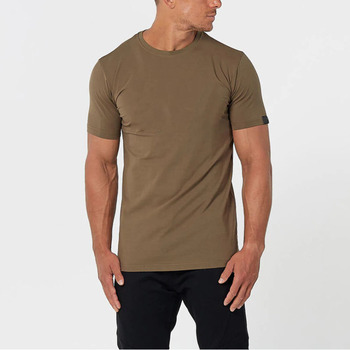 Custom printing blank streetwear fitness longline 100% cotton man t-shirt create your own brand clothing
