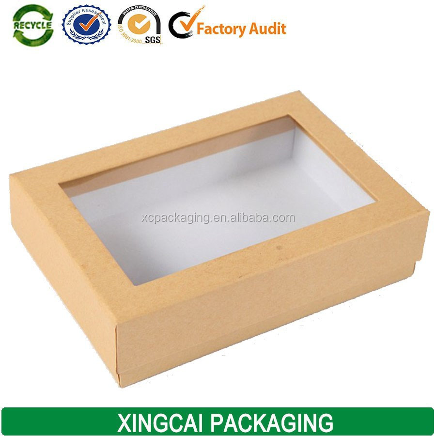 Free Sample Custom Kraft Folding PVC Window Paper Box