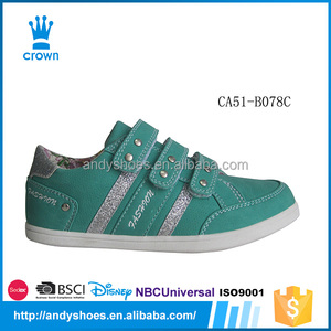 Wholesale children casual latest design hot acid blue custom china guangzhou shoes
