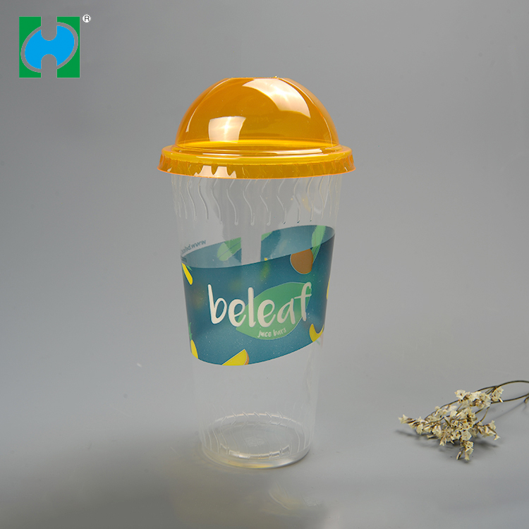 Custom Printed Reusable Disposable Transparent With Printing Plastic Cup Gold Plastic Cups For Drinking