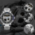 New Men's Brand Quartz Watch Men Wrist Watch Luxury stainless steel Japan movement Electronic sports Analog Digital watch