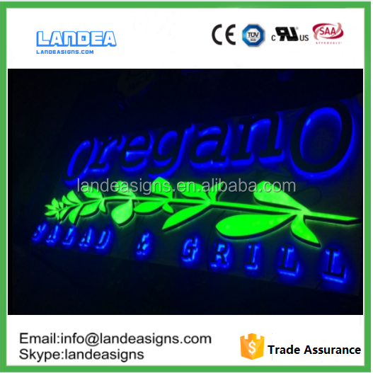 Waterproof Led Channel Letters Face Halo Illumination