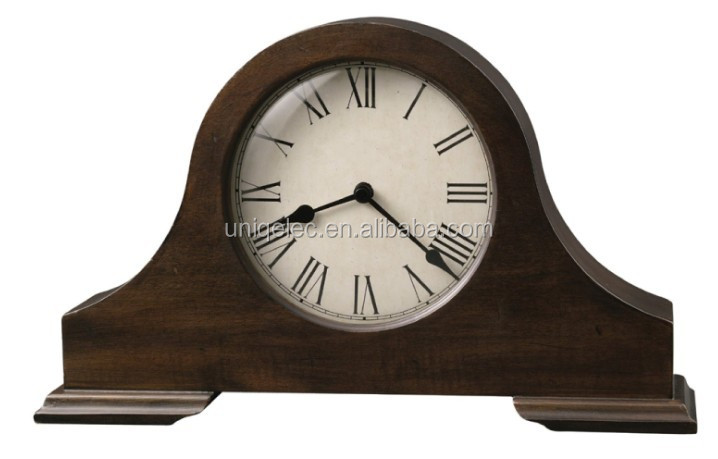MDF wood mantel table clock for home decor