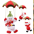 Decoration Parachute Christmas Hanging Green Pendant White Red Snowman toy christmas santa head hanging decor