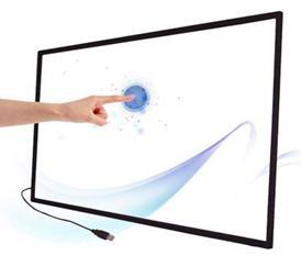 2 points 47 LCD IR multi touch screen overlay panel kit for touch kiosk touch table
