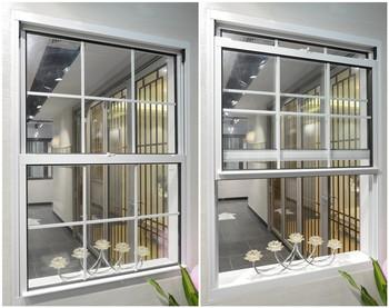 Ce Certificat Fenêtre Coulissante Verticale En Aluminium Fenêtre à