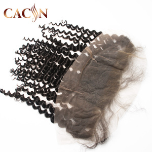 Hot sale silk base closure light brown transparent lace frontal 13x6