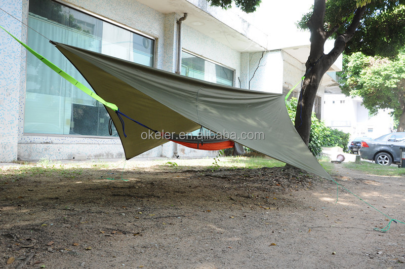 New Customized Outdoor Forest Rain Fly Waterproof Polyester Hammock Cover Tent Sheet