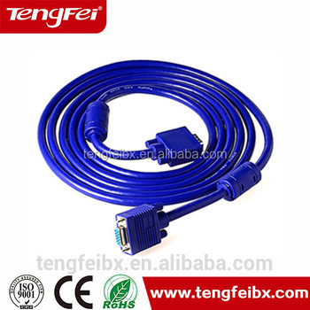 1.5 M Copper Blue Head Wiring Diagram Scart To Vga Cable/cables Vga ...
