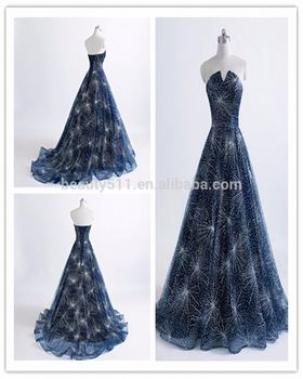 2017 Column Strapless Floor Length Sequined Formal prom Dress