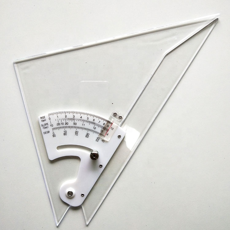 Engineering Multifunctional 10 Inch Adjustable Triangle Ruler