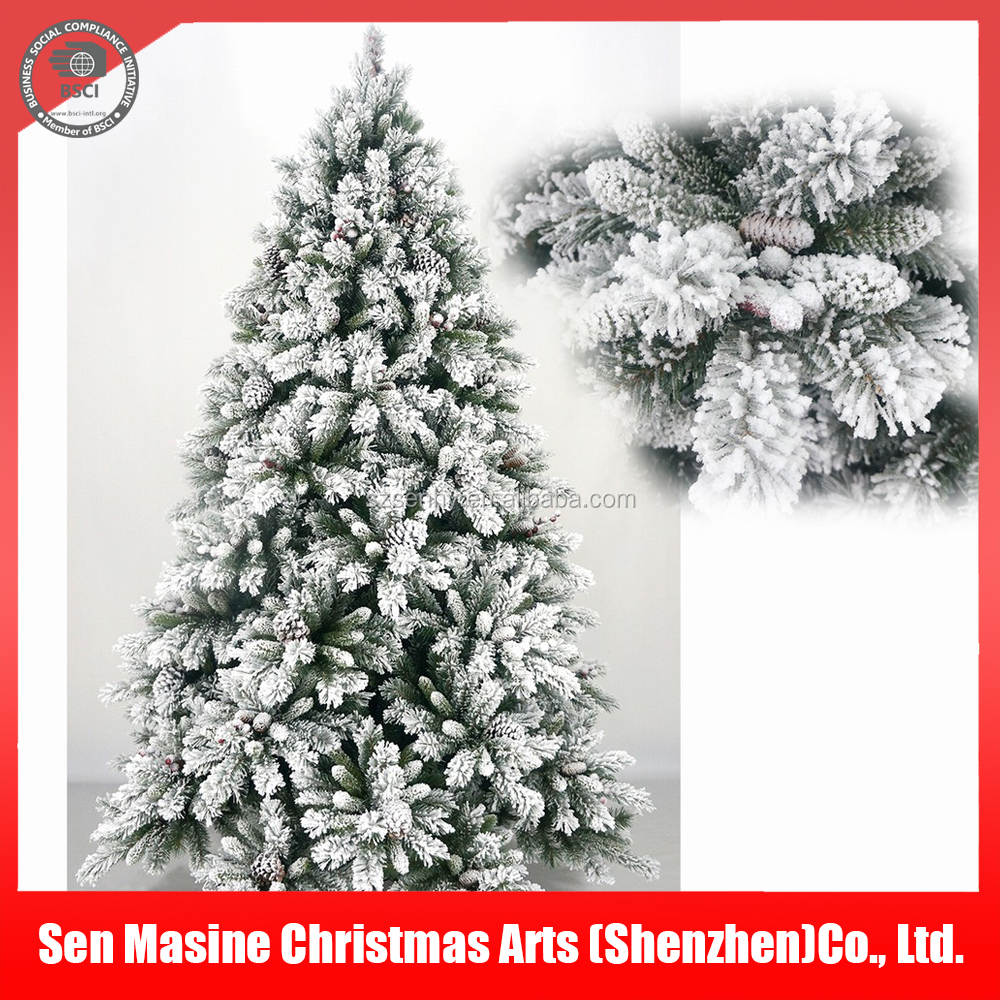 Wholesale decorative Floked Snowing PVC Artificial Christmas tree