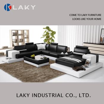 Lk Ls1540 New Design Round Corner Sofa With Table
