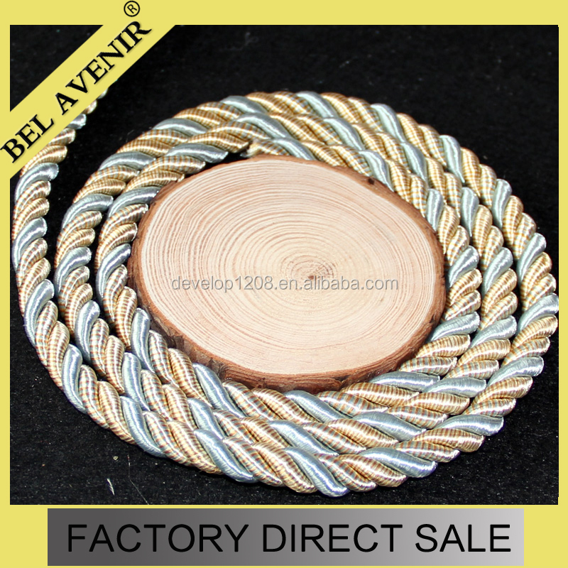 China 6mm Polyester decorative twisted Cords For Sofa Decor,garment