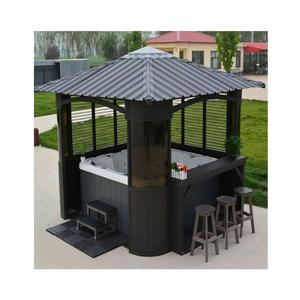 Spa Garden Bar Counter Metal Aluminum Frame Hot Tub Outdoor Spa Gazebo
