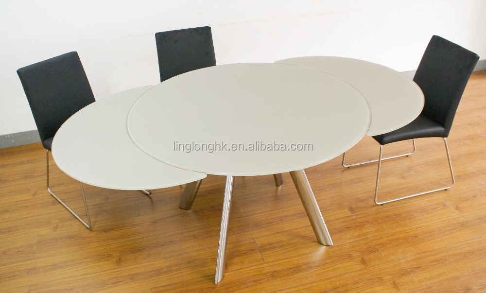 round glass /ceramic /stone /marble extendable dining tables