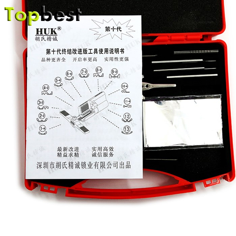 Topbest Hot Product open lock tool set 2015 10th-Gen lock pick set