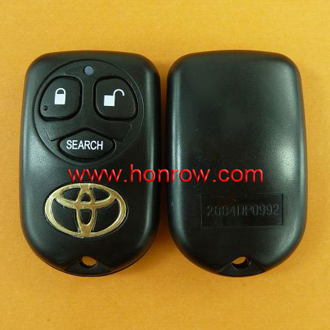 High quality Toyota 3 button smart remote key with 433Mhz,toyota smart key remote